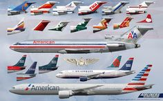 History of American Airlines and US Airways | by AirlinersIllustrated.com