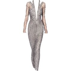 JulienMacdonald-editedbyelfemme ❤ liked on Polyvore featuring dresses, gowns, long dresses, vestidos, satinee, julien macdonald dresses and julien macdonald
