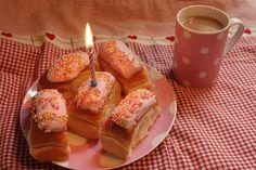 birthday sweet buns and tea