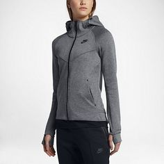 ac3fb78a08d9 Details about New Women s Nike Tech Fleece Full-Zip Hoodie  842845-092   Carbon Heather