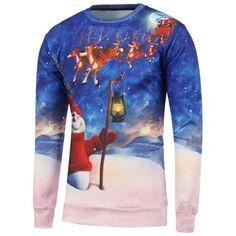 3D Printed Crew Neck Christmas Sweatshirt
