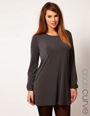 ASOS CURVE Shift Dress With Bell Sleeve