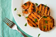 Grilled sweet potatoes with maple vinaigrette