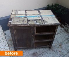 Before & After: A Beat-up Bathroom Cabinet is Saved From the Trash