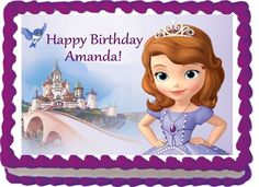 Edible Sofia the First  Edible Image Cake Topper by EtsysEdibles, $9.99