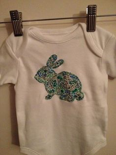 Baby clothes boy girl rabbit onesie bodysuit by catemoss on Etsy, $12.00  https://www.etsy.com/shop/catemoss  Enter the code PINTEREST5 for $5 off when you spend $20 or more
