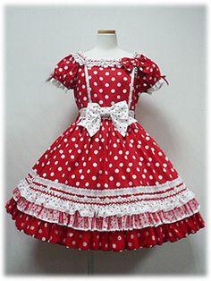 """Angelic Pretty - Dream Drop OP in Red, Pink, Lavender and Black "" Girls Dresses Sewing, Frocks For Girls, Baby Girl Dresses, Baby Dress, Cute Dresses, Harajuku Fashion, Kawaii Fashion, Lolita Fashion, Cute Fashion"