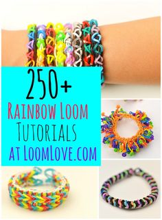 250+ Loom Band Designs at Loom Love #rainbowloom