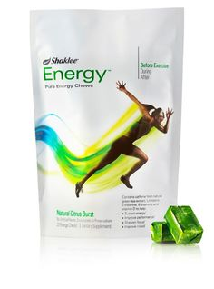 Shaklee Energy Chews - Rosetta could never keep up with her running friends.  She took one of these natural energy chews before a 5 mile run and kept up with her running buddies.  They really work #olympians #healthy workout, sports nutrition