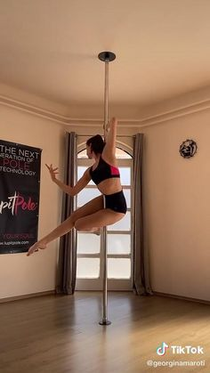 Pole Dance Moves, Pole Dancing Fitness, Pole Fitness, Pole Sport, Gymnastics Flexibility, Pole Tricks, Aerial Dance, Sweat It Out, Funny Videos For Kids