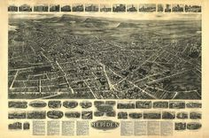 Antique Map of Meriden Connecticut Poster 1918 New Haven County