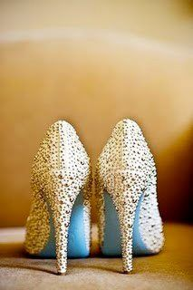 """""""Something Blue"""" by Christian Louboutin!- special Christain Louboutin blue bottom shoes instead of red! LOVE this would have totally used these for the wedding if I had seen them :)"""