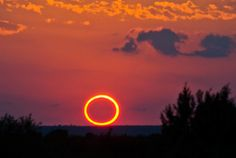 FANTASTIC ECLIPSE: The Moon passed in front of the sun on Sunday, May 20th, producing a deep solar eclipse visible across the Pacific side of Earth. Sunlight dimmed, the air cooled, ordinary sunbeams turned into fat crescents and rings of light. And the sunset was definitely different. Jacob Thumberger sends this picture from Gail, Texas: