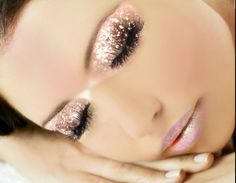Pink glitter make up - DREAMS by JoaquiMar