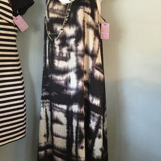 BCBG dress BCBG black-and- white long dress BCBGeneration Dresses Midi