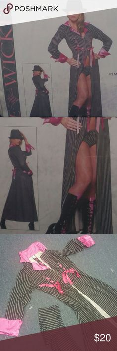 Pimpin' Pretty Halloween Costume Long jacket and shorts, hat NOT included, Sz M/L Bewicked Accessories