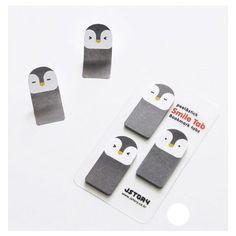 Slightly cheaper $3.20 - Smile sticky memo notes bookmark tabs - penguin