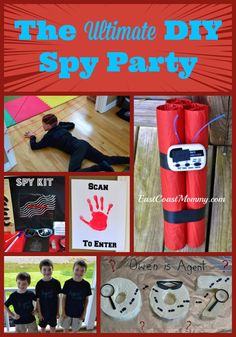 This post is full of easy, inexpensive, and {awesome} DIY spy party ideas. So much fun!