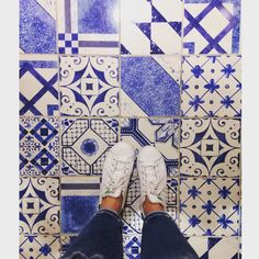 #tiledesign #tileaddiction #blue #stansmith #adidas by florencecastillo