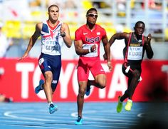 Great Britain's Adam Gemili (left) in action in the Men's 200m heats on day seven of the 2013 IAAF World Athletics Championships at the Luzhniki Stadium in Moscow, Russia.