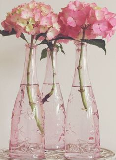 Pretty.  And just think....I can paint any clear glass bottle and make it look like depression glass, just like the Mason Jars!!!  I'm so excited!!!