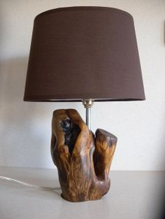 "Handmade Wooden Table Lamp made from ROSE WOOD / Wooden lamp ""SAMARIA"""