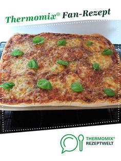 """Pizzateig vom """"echten Italiener"""" von Schirmle. Ein Thermomix ® Rezept aus der Kategorie Backen herzhaft auf www.rezeptwelt.de, der Thermomix ® Community."""