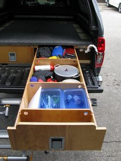 Truck Drawers/Sleeping Platform