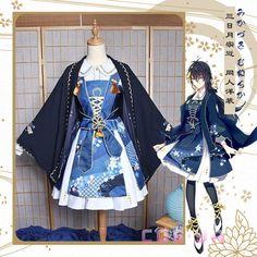 刀剣乱舞 三日月宗近 みかづきむねちか  ロリータ風 コスプレ衣装 洋装 Japanese Outfits, Japanese Fashion, Cosplay Outfits, Anime Outfits, Old Fashion Dresses, Fashion Outfits, Lolita Mode, Anime Dress, Frack