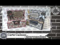 Coul'Heure Papier: Carte Cadeau & Gourmandises [Tutoriel] 50th Birthday, Birthday Celebration, Candy Packaging, Customer Appreciation, Cute Box, Party Bags, Big Shot, Stampin Up, Diy Art