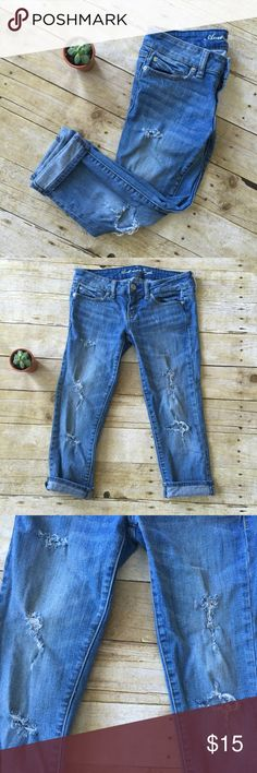 ✨Sale✨AEO Skinny Cropped Pants Gently worn! American Eagle Outfitters Jeans Ankle & Cropped