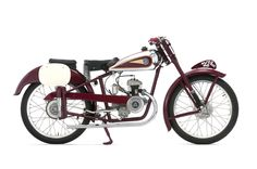 """1946 MV Agusta 98cc Velocita, MV's first race bike. """"Wanna buy an MV Agusta? How about 71 at once? Mecum Auctions has lined up what must be the single largest collection of MV Agustas in the world, and all 71 bikes – dating from 1946 to 2007 – are to be sold as a single lot at Mecum's Monterey Auction August 16-18, 2012."""" Read more at www.motorcycleclassics.com"""