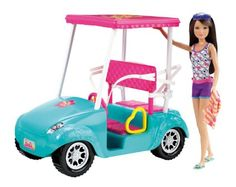 Amazon.com: Barbie Sisters Golf Cart and Skipper Doll Set: Toys & Games
