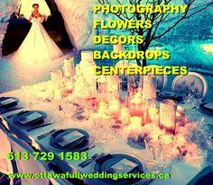 Budget Wedding, Ottawa, Flower Decorations, Backdrops, Comic Books, Weddings, Comics, Flowers, Movie Posters