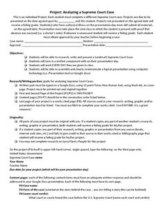 Worksheets Landmark Supreme Court Cases Worksheet supreme court charts and cases on pinterest students research landmark will create a presentation about each case
