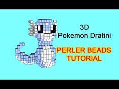 3D Hama Beads Perler tutorial Pokemon Sun Moon Rowlet - YouTube