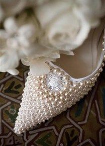 pearl wedding shoes