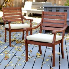 Belham Living Arbor Patio Dining Chair - Set of 2 - Outdoor Dining Chairs at Hayneedle
