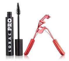 LORAC Rockin' Red Hot Lashes Set - Two great eye products at one great price! This set includes a tube of Lorac PRO Mascara & a red eyelash curler with red rhinestones that will give your lashes major volume and curl that lasts and lasts.