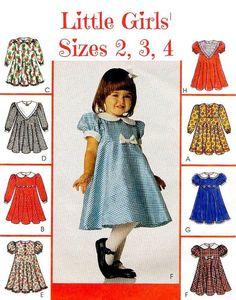 90s LITTLE GIRLS DRESS Pattern     McCalls 9146 by KeepsakesStudio, $3.99