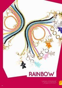 #birikini #rainbow: #bracciali a 1 e 3 fili, #collana e #orecchini con birikina o birikino in policarbonato impreziosito da cristalli, con lastra galvanizzata in bagno oro o rodio. SEMPRE UN'#EMOZIONE. #birikiniemotions