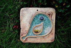 Obrázek Obrázek zdobený sklem, vel. cca 18x18 cm. Ceramic Pottery, Pottery Art, Class Projects, Diy Projects, Pottery Classes, Garden Markers, Metal Jewelry, Fused Glass, Cement
