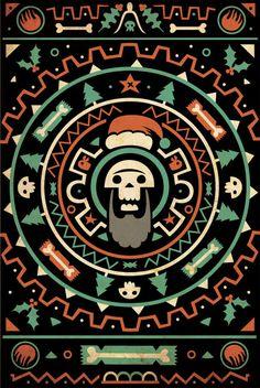 End of the world xmas by Diarmuid O Cathain, via Behance