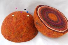 felted pin cushion by green baboon designs