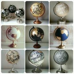 www.etsy.com/uk/shop/WholeWorldOfLove  Custom order globes. Wedding globe. Guest book globe Globe guest book Travel Travel quote Travel theme Travel wedding Travel decor World globe World map