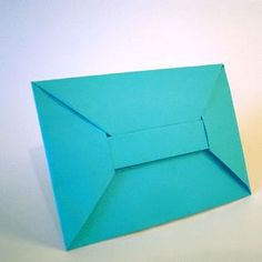 Origami Envelope for save the dates.  Write the info on an 8 1/2 by 11 sheet of paper, and then fold it into an envelope.
