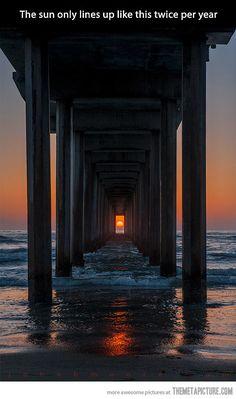 Scripps Pier in La Jolla, California…