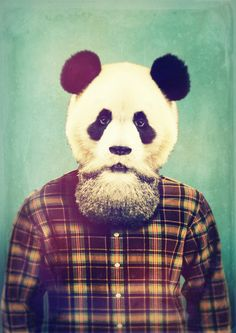Poster | HIPSTER PANDA von Rubbishmonkey | more posters at http://moreposter.de