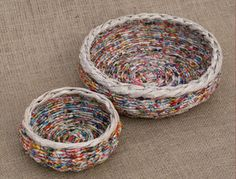 Picture of More Newspaper Basket Weaving Ideas