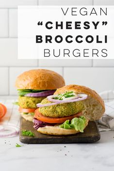 Low Carb Recipes To The Prism Weight Reduction Program Cheese Broccoli Vegan Burgers - These Vegan Burgers Are Loaded With Flavor And Nutritious Ingredients. Even better, The Ingredient List Is Short And They Can Be Put Together Just Shy Of 30 Minutes. Vegan Burger Recipe Easy, Vegan Dinner Recipes, Delicious Vegan Recipes, Vegan Dinners, Whole Food Recipes, Vegetarian Recipes, Healthy Recipes, Savoury Recipes, Easy Recipes